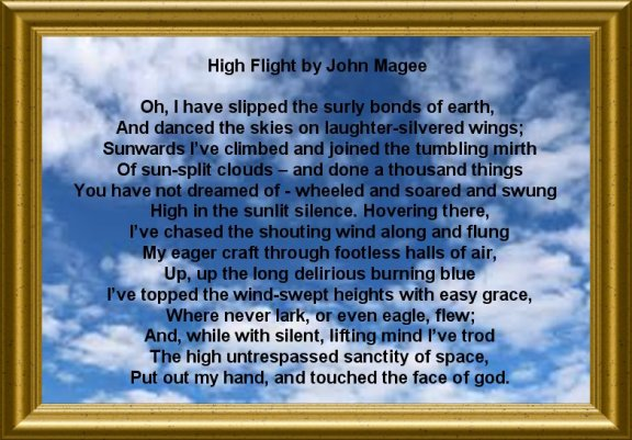 High Flight Poem